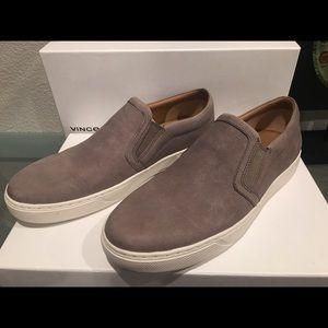Vince Barron suede slip-on sneakers